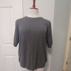 Alfred Dinner Grey Lightweight Sweater Size Lg